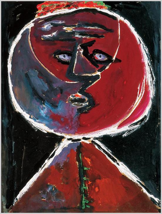"""""""Anna Margit portréi duzzadt, felfúvódott, számtalan metamorfózison átment alakzatok, földgömbök, golyóbisok, tátongó lyukak, üregek; szinte visítanának, de hang nem jön ki szájukon, kettéhasadt lények, borzongással telítettek."""" (S. Nagy Katalin)"""