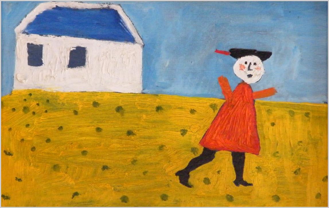 """""""A síkszerű ábrázolás gazdag lehetőségeinek szép bizonyítéka ez a kép, de egyúttal annak is, hogy a kedvesen elnagyolt vonalak megindítják a képzeletvilágot, visszhangra találnak bennünk. Nem természethű a festmény, de életszerű..."""" (S. Nagy Katalin)"""